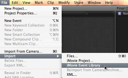 FCP X: Importing iMovie Projects | Larry Jordan