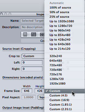 FCP X: Create Custom Project Sizes | Larry Jordan