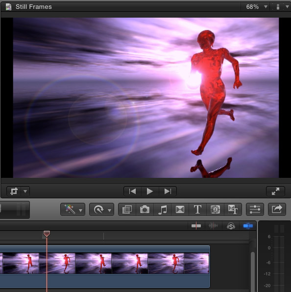 how to put a hold frame final cut