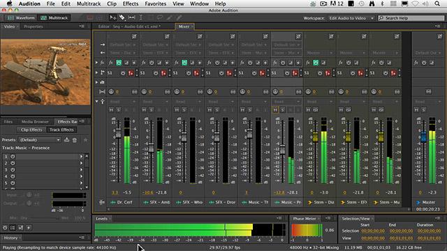 ویدیو آموزش میکس و مستر با نرم افزار Adobe Audition به صورت کاملا فارسی