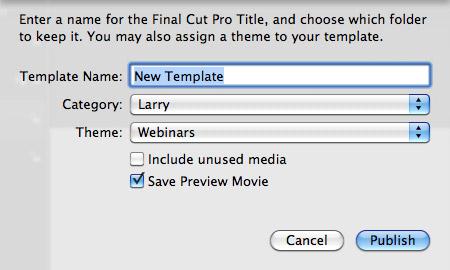 Final Cut Templates | Fcp X Delete Add Custom Templates Larry Jordan