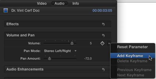 FCP X: Adjusting Audio Levels   Larry Jordan