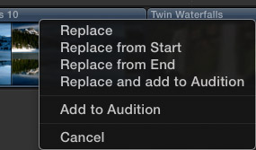 FCP X: Replace Edit
