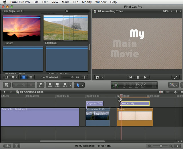 FCP X: Animate Title Text