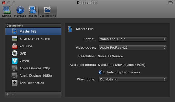FCP X: Export Master File | Larry Jordan