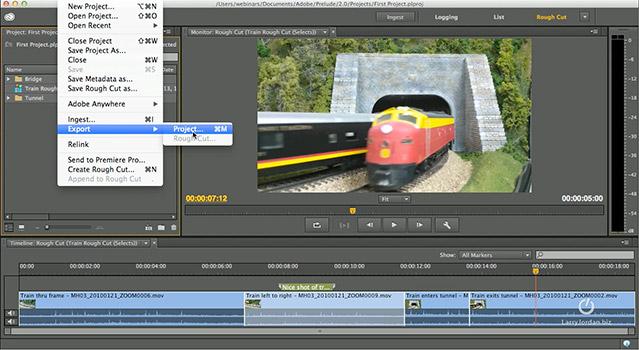 Adobe Prelude CC: Send to Premiere [Video] | Larry Jordan