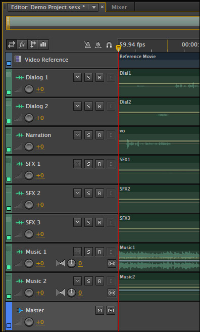 Adobe Audition CC: Create Busses and Stems | Larry Jordan