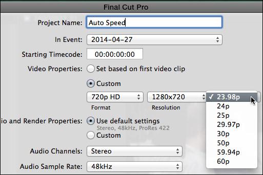 editing 720p 60 fps videos