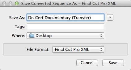 how to open xml in final cut pro
