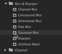 how to add blur effect in premier pro cc