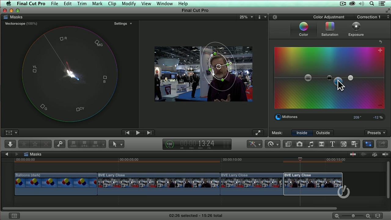 141 Advanced Color Correction In Final Cut Pro X Larry