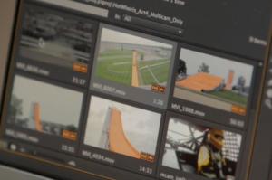 Showing Orange Car Ramp During Adobe Video Editing Sequence