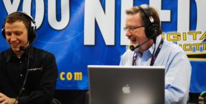 Larry Jordan Delivering Live Broadcast On Adobe Video Editing