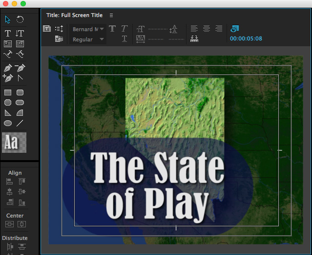 Premiere pro cc 2015 make your text look great larry jordan the title editor in premiere provides one of the most robust titling interfaces ive ever worked with while you cant use it to create animated titles ccuart Images