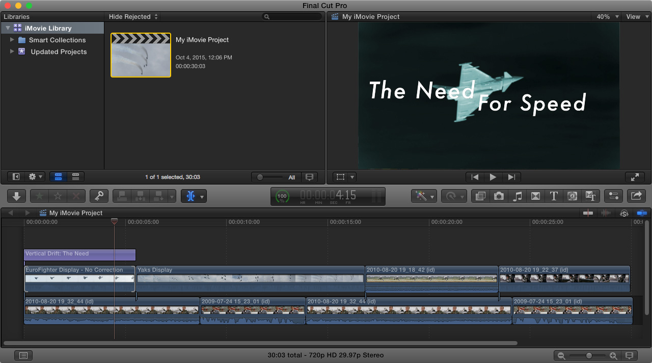 Send iMovie Projects to Final Cut Pro X | Larry Jordan