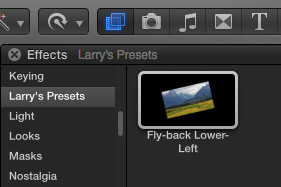 FCP X: Create, Apply or Delete an Effects Preset | Larry Jordan