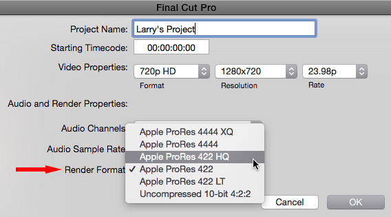Fcp X Render Files Exporting And Image Quality Larry Jordan