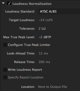 Premiere Pro CC: Loudness Radar and Average Audio Levels [u