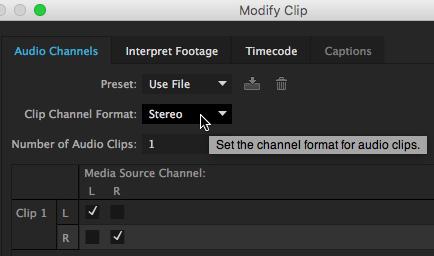 Premiere Pro CC: Convert Stereo to Dual-Channel Mono Audio