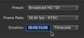 Start Motion In The Top Right Corner Set Preset To Match Your Typical FCP X Project Settings Here Im Creating A Title For 720p Which Is