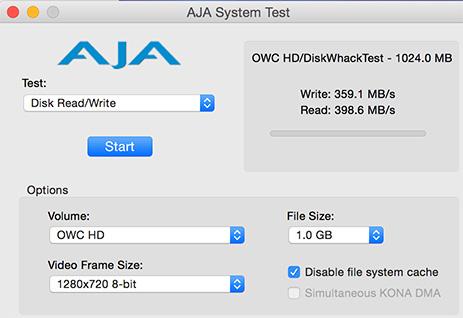 Aja system test old version