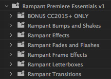 First look rampant premiere essentials for adobe premiere pro cc presets spiritdancerdesigns Image collections