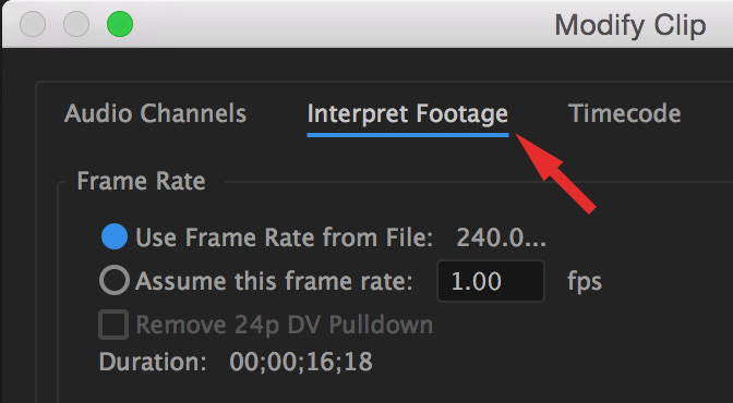 Adobe Premiere Pro CC: Display High-Quality Slow Motion