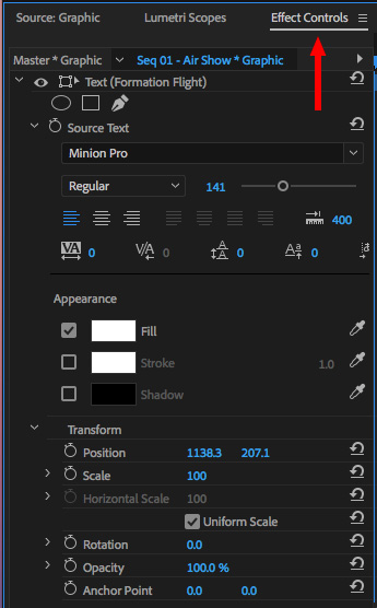 Adobe premiere pro cc 2018 the new font menu larry jordan we could change this text the old boring way ccuart Choice Image