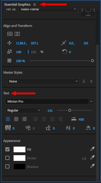 Adobe Premiere Pro CC 2018: The New Font Menu | Larry Jordan