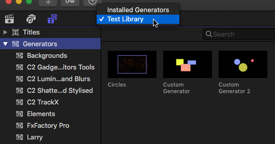 FCP X: Store Custom Titles in the Library Itself | Larry Jordan