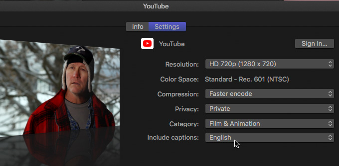 how to add caption in final cut pro
