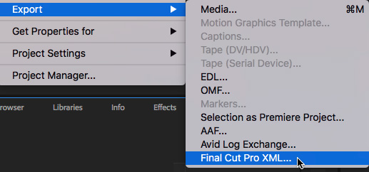 Move Sequences Between Premiere Pro CC and Final Cut Pro X | Larry