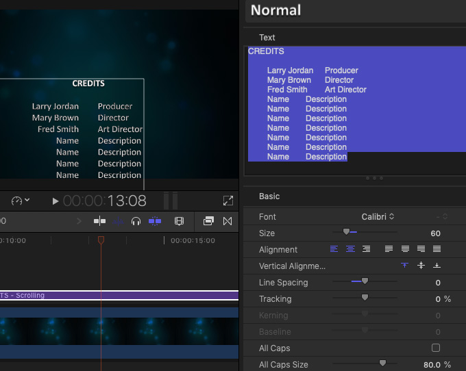 Final Cut Pro X: Create Scrolling Credits | Larry Jordan