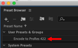 Create ProRes Settings in Adobe Media Encoder   Larry Jordan
