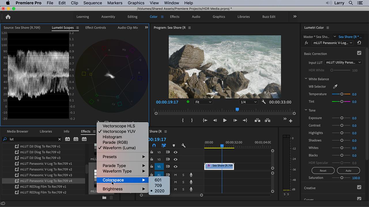 274 Using Hdr Media In Adobe Premiere Pro Larry Jordan